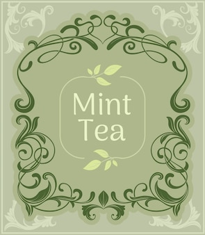 Mint tea vintage background