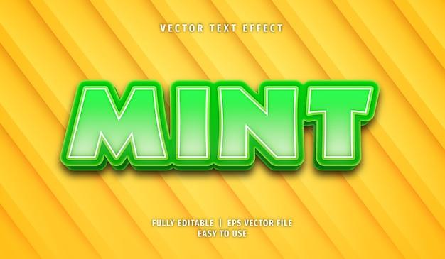 Mint text effect editable text style