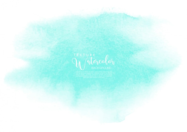 Mint watercolor texture background