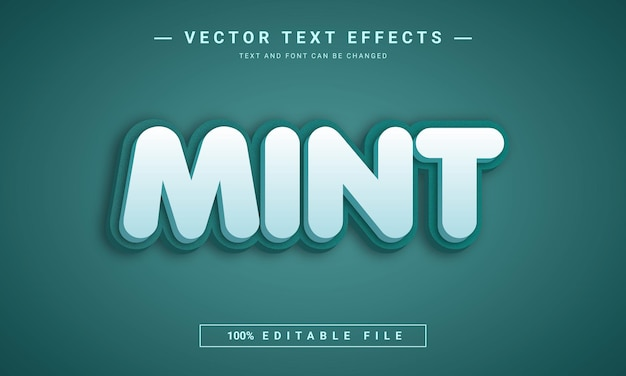 Mint3d 편집 가능한 텍스트 스타일 효과 템플릿