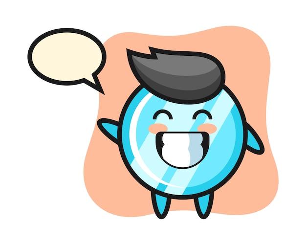 波の手ジェスチャーを行うミラーの漫画のキャラクター
