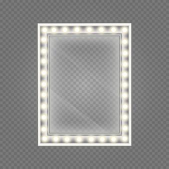 Mirror in frame.  make-up mirror