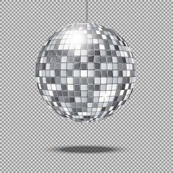 Mirror glitter disco ball illustration