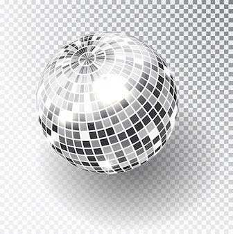 Mirror glitter disco ball vector illustration.