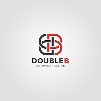 Mirrored letter b logo template