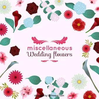 Miscellaneous wedding flowers