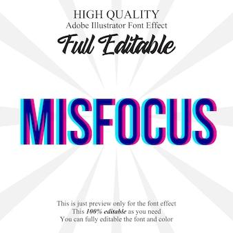 Misfocus text style  font effect