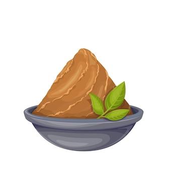 ボウルに味噌ペースト