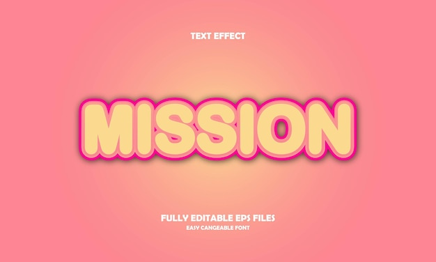Mission text effect