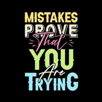 실수는 당신이 타이포그래피 디자인을 시도하고 있음을 증명합니다