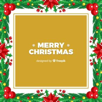 Mistletoe frame christmas background