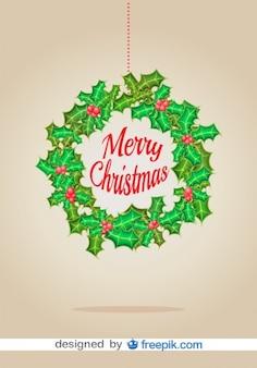 クリスマスリースベクトルクリスマスカード