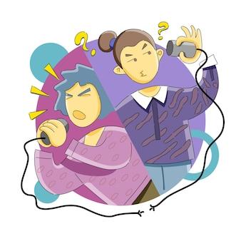 Misunderstanding and miscommunication problem concept