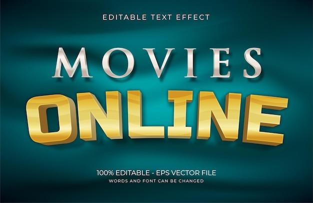 Текстовый эффект mivies online premium векторы
