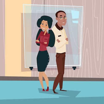 Mix race businesspeople couple