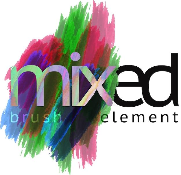 Mixed brush element