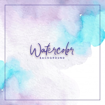 Mixed colors blue purple watercolor background