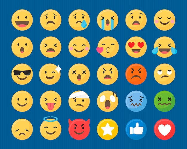 Mixed emoji set
