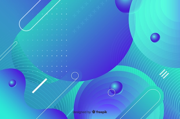 Mixed gradient geometric shapes background