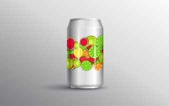 Mixed juice in the can