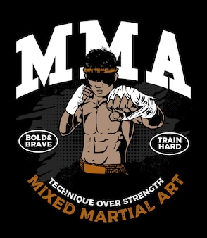 The mixed martial art fighter