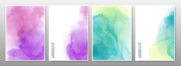 Mixed multicolor of the watercolor background