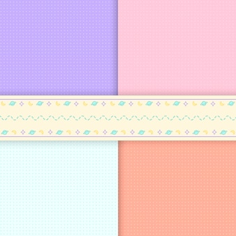 Mixed pattern pastel background vectors