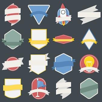 Смешанный набор лампочек космического корабля значки флагов