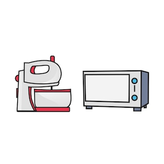 Mixer and microwave