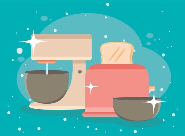 Mixer and toaster