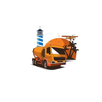 ミキサートラック Premiumベクター