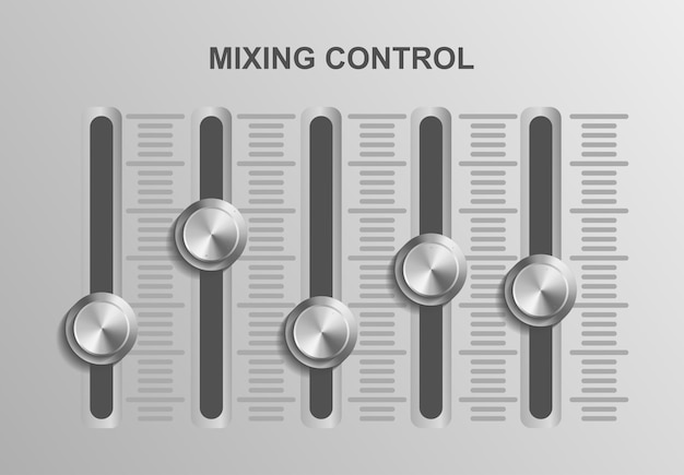 Mixing control music dj ,    illustration sound audio, studio control   equipment record , media broadcast recording   , entertainment professional design concept