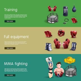 Mma боевых интерактивных 3d-баннеров