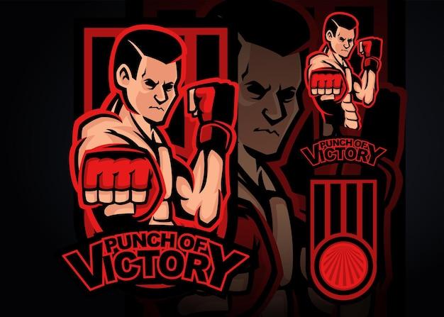 Мма бокс премиум векторные иллюстрации
