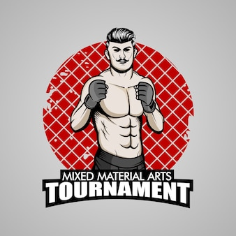 Mma fighter illustration
