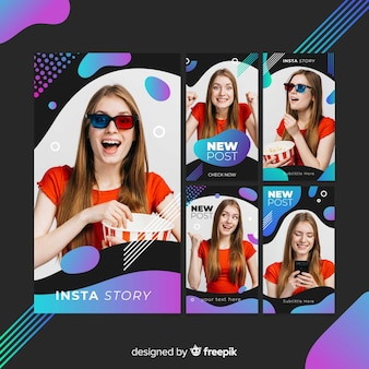 Mmemphis abstract instagram stories template