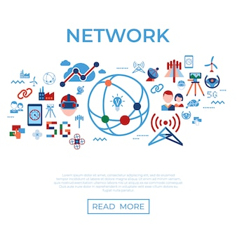 Mobile 5g technology and network icons collection