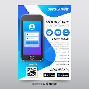 Mobile app brochure template