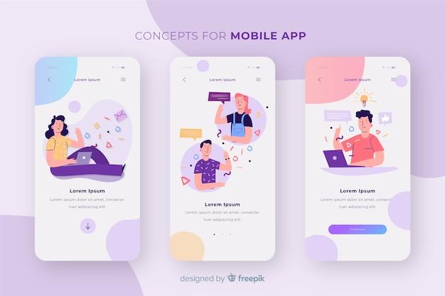 모바일 앱 컨셉