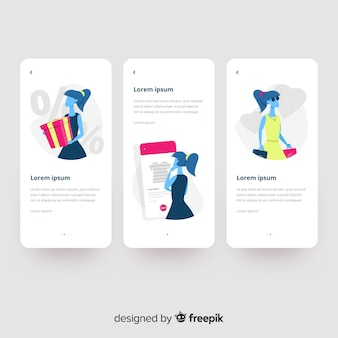 Hand drawn mobile app concept Vector | Free Download