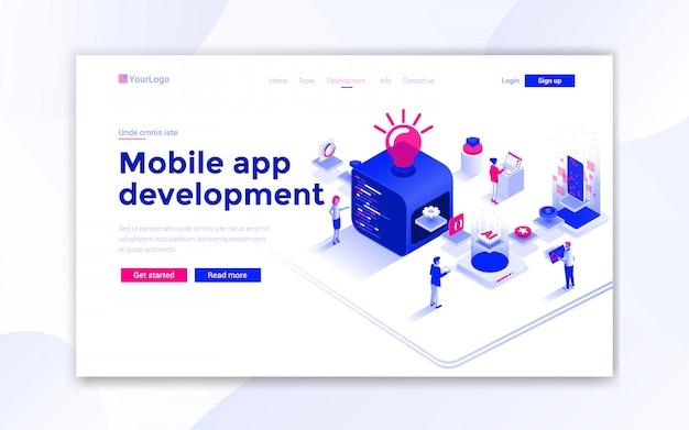 Mobile app development landing page