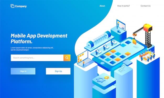 Mobile app development platform.