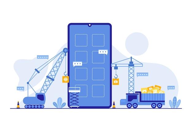 Плоский процесс разработки мобильных приложений