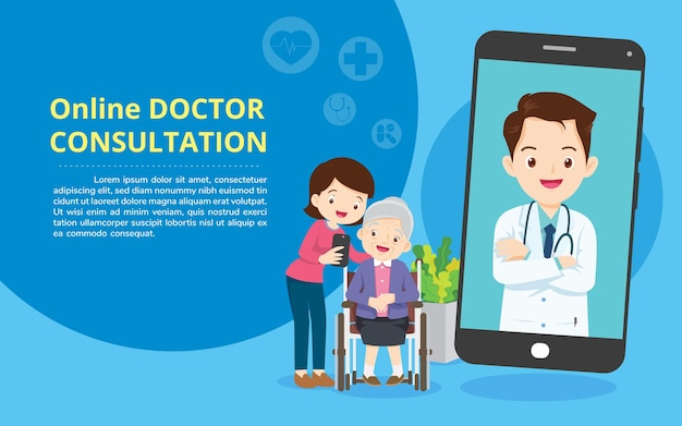 Mobile app family doctor family using mobile applicationconsult online doctor healthcare services