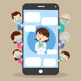 Mobile app family doctorfamily using mobile application consult online doctor healthcare services