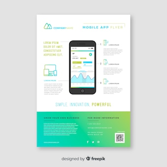 Mobile app flyer template