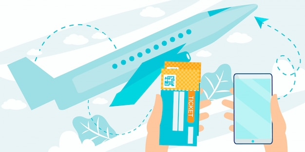 Mobile app for ordering flights tickets online