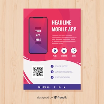 Mobile app poster