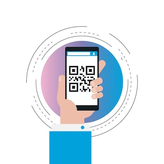 Mobile app for qr-code scanning gradient color
