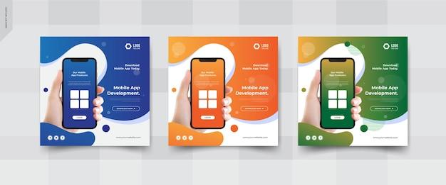 Mobile app social media ad banner design